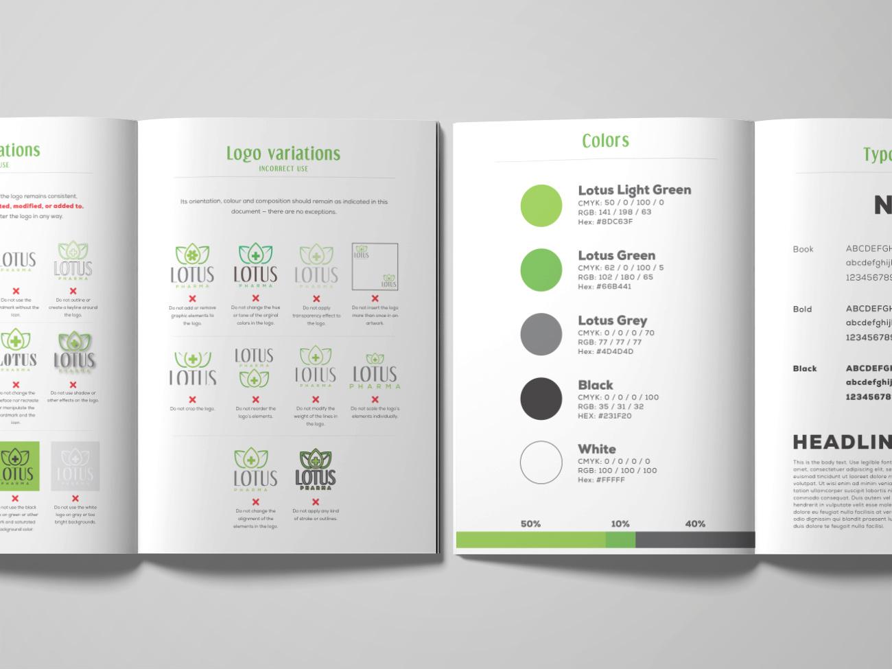 Lotus Pharma Brandbook